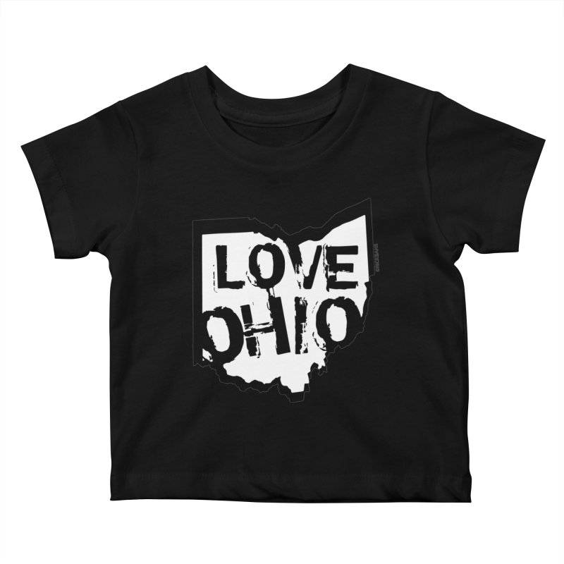 Love Ohio Kids Baby T-Shirt by Rick Sans' Artist Shop