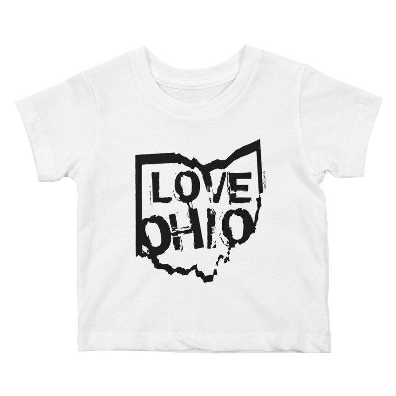 Love Ohio Kids Baby T-Shirt by Ricksans's Artist Shop