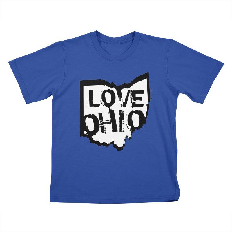Love Ohio Kids T-Shirt by Ricksans's Artist Shop