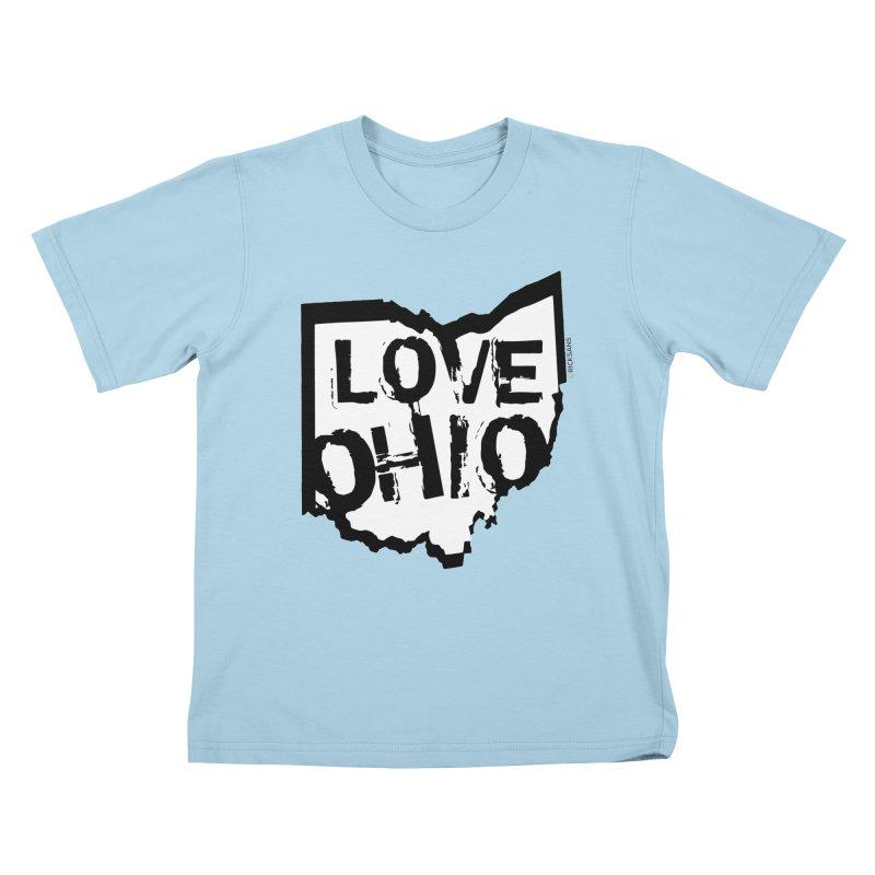 Love Ohio Kids T-Shirt by Rick Sans' Artist Shop