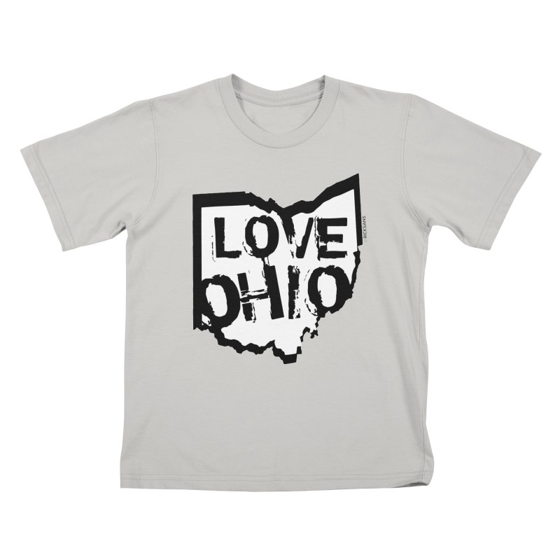 Love Ohio Kids T-Shirt by Ricksans's Artist Shop