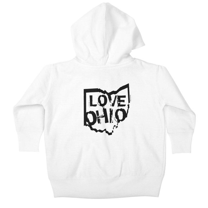 Love Ohio Kids Baby Zip-Up Hoody by Rick Sans' Artist Shop