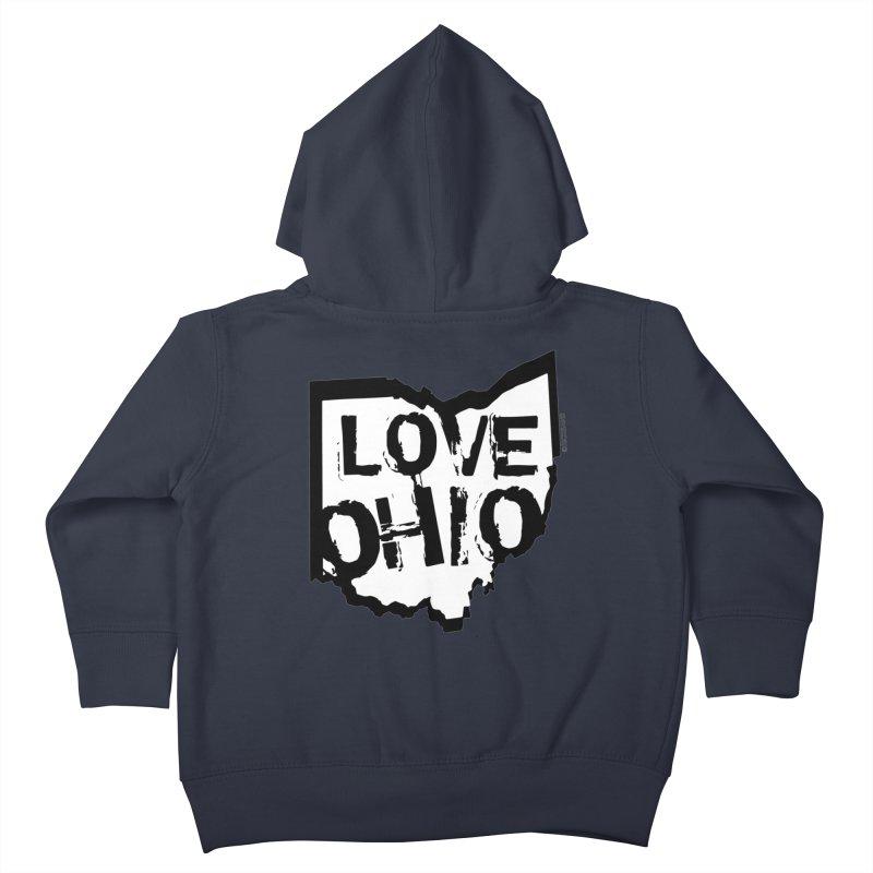 Love Ohio Kids Toddler Zip-Up Hoody by Ricksans's Artist Shop