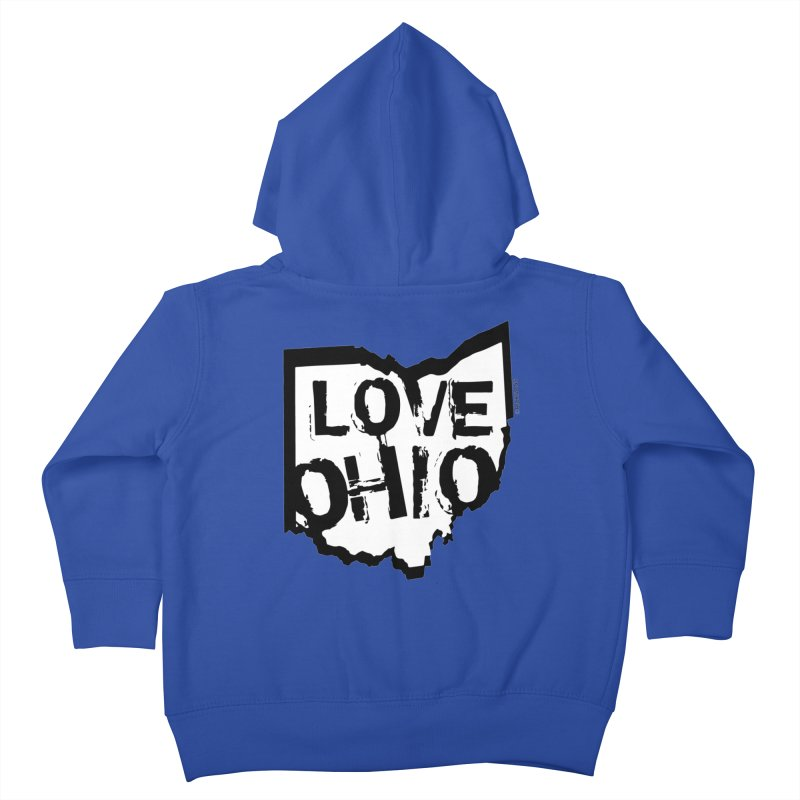 Love Ohio Kids Toddler Zip-Up Hoody by Rick Sans' Artist Shop