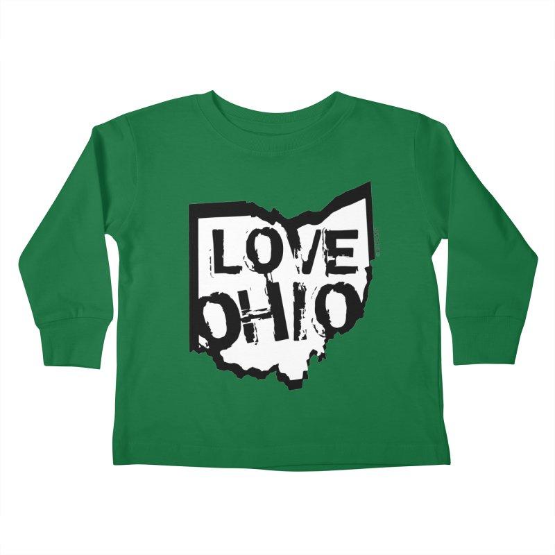 Love Ohio Kids Toddler Longsleeve T-Shirt by Rick Sans' Artist Shop