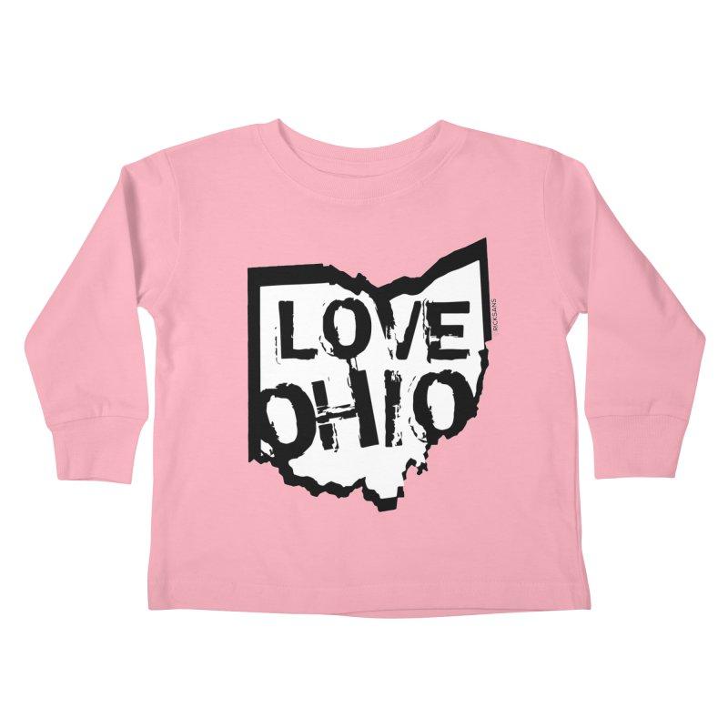 Love Ohio Kids Toddler Longsleeve T-Shirt by Ricksans's Artist Shop