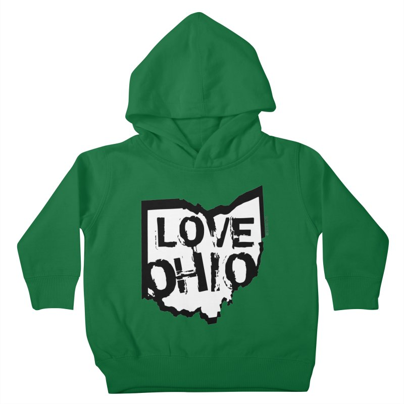 Love Ohio Kids Toddler Pullover Hoody by Rick Sans' Artist Shop