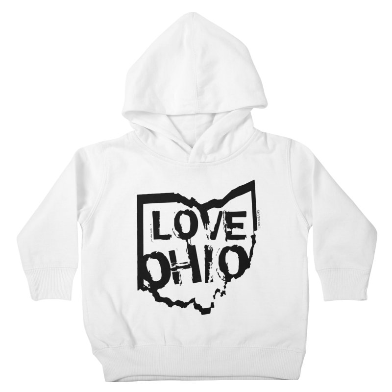 Love Ohio Kids Toddler Pullover Hoody by Ricksans's Artist Shop