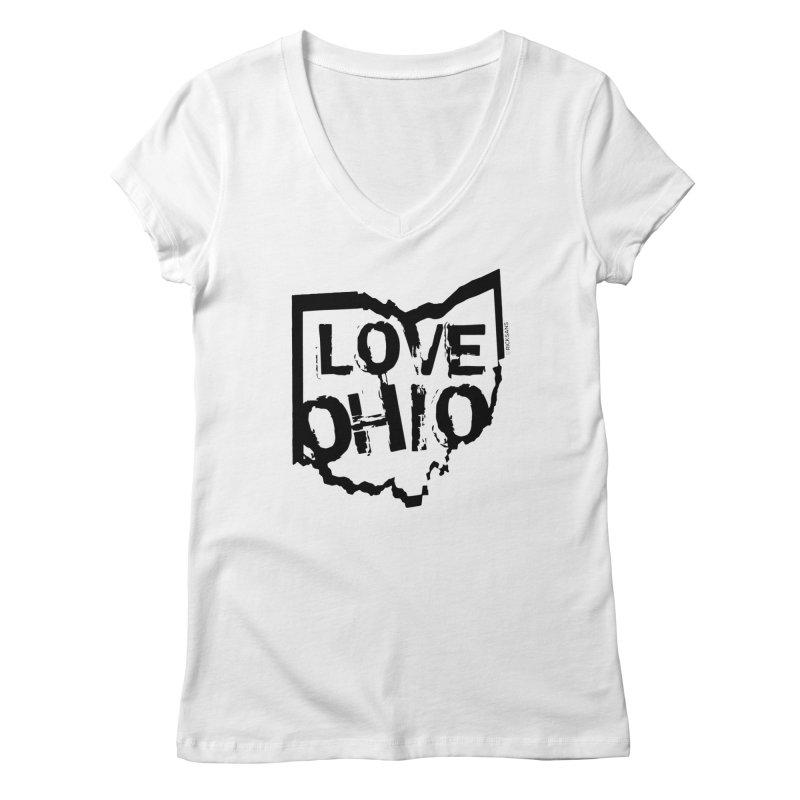 Love Ohio Women's V-Neck by Rick Sans' Artist Shop