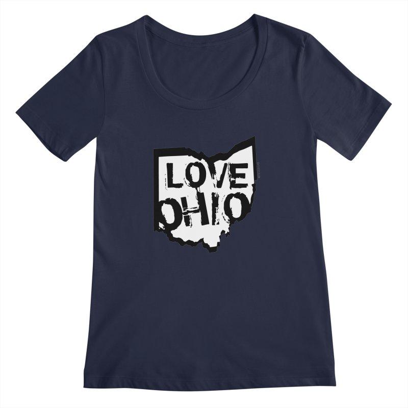 Love Ohio Women's Regular Scoop Neck by Rick Sans' Artist Shop