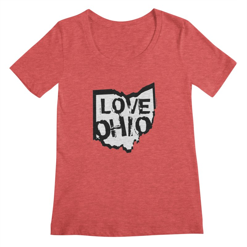 Love Ohio Women's Scoopneck by Ricksans's Artist Shop
