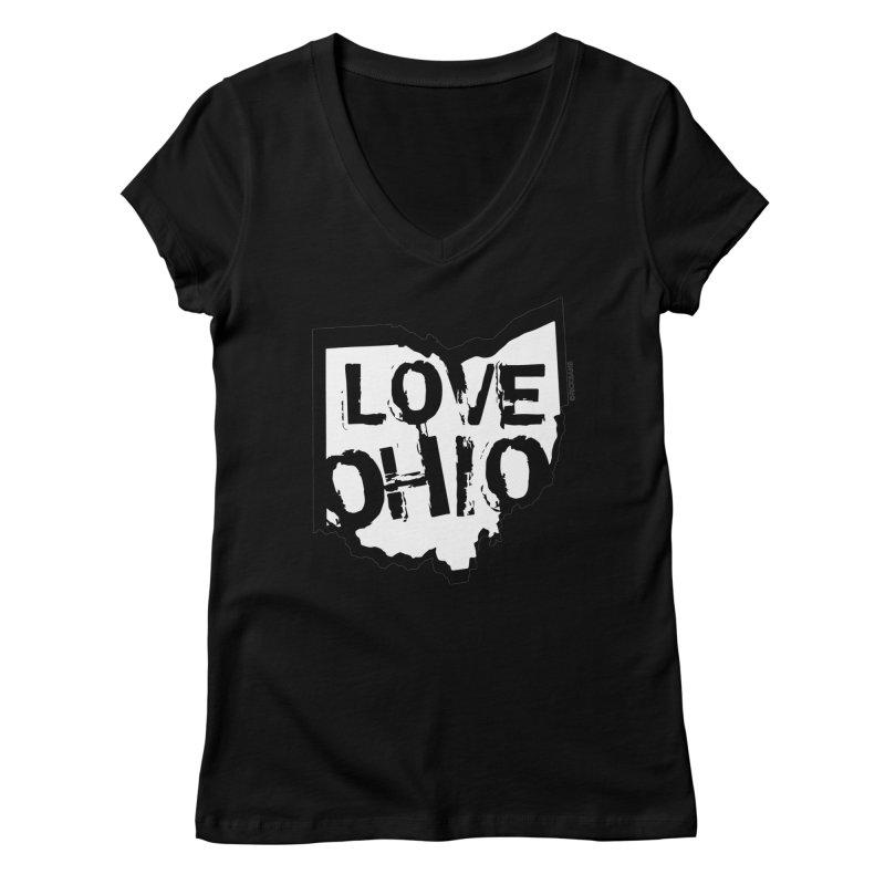 Love Ohio Women's Regular V-Neck by Rick Sans' Artist Shop