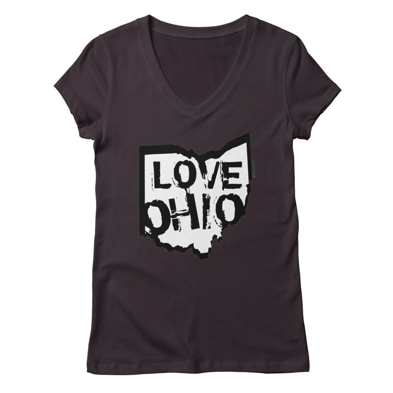 Love Ohio Women's Regular V-Neck by Rick Sans' Artist Shop