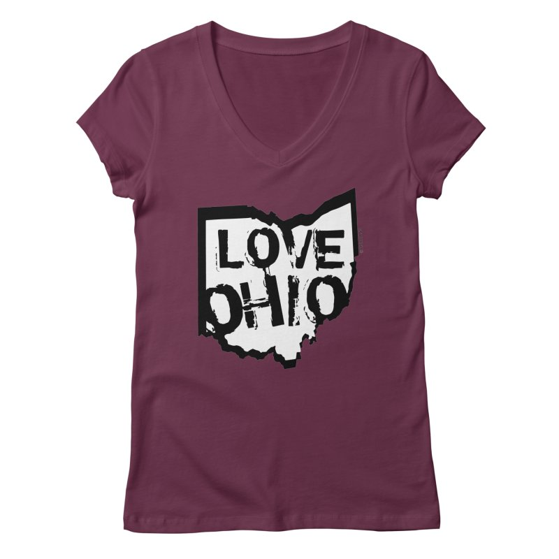 Love Ohio Women's Regular V-Neck by Ricksans's Artist Shop