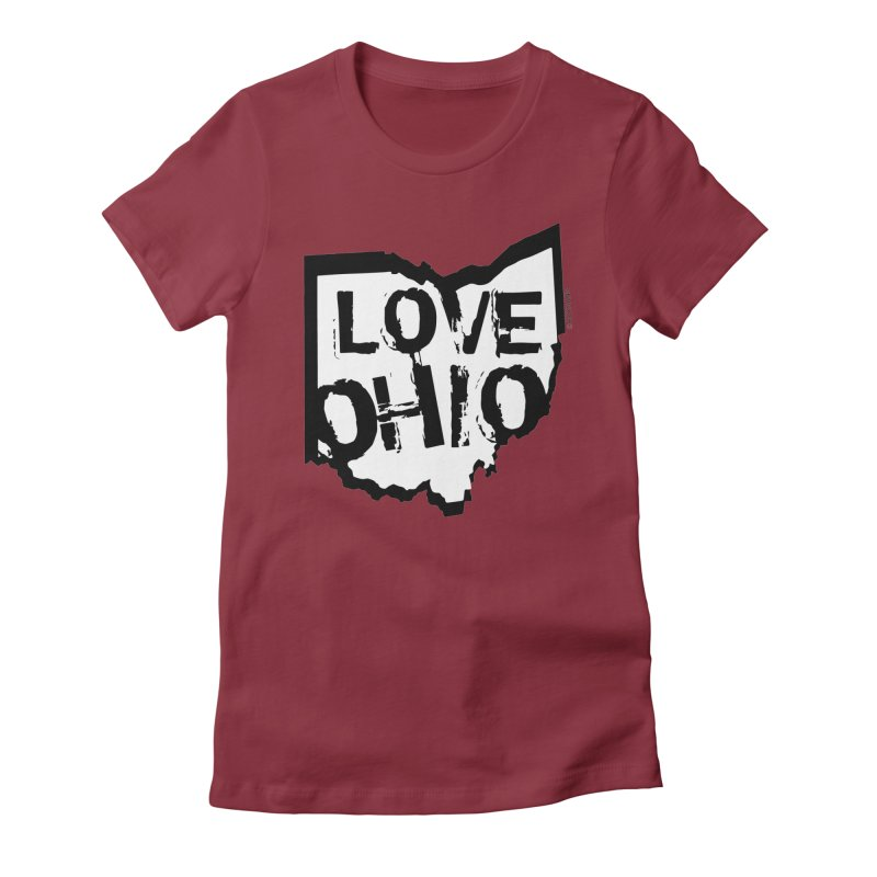Love Ohio Women's Fitted T-Shirt by Rick Sans' Artist Shop