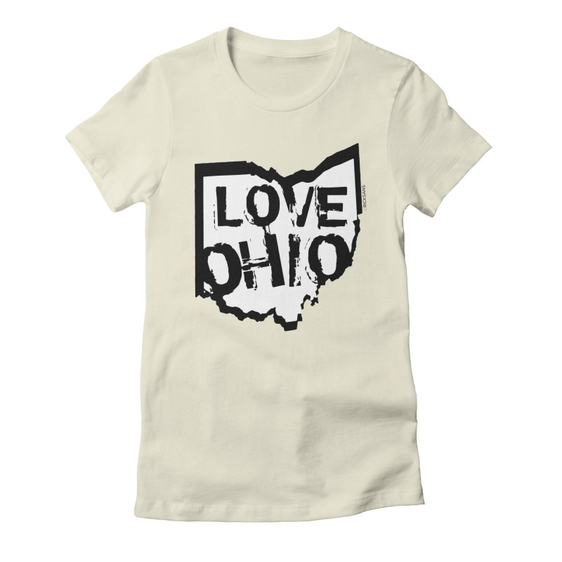 Love Ohio Women's Fitted T-Shirt by Rick Sans' Artist Shop