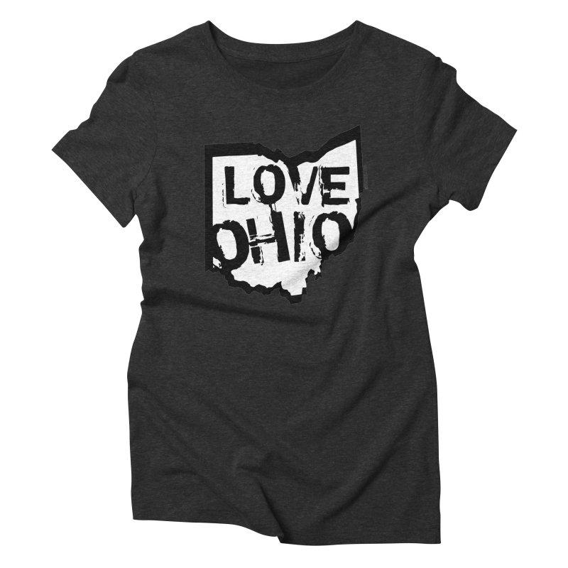 Love Ohio Women's Triblend T-Shirt by Ricksans's Artist Shop