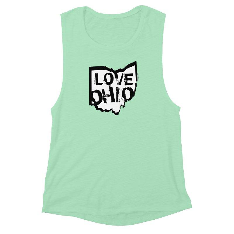 Love Ohio Women's Muscle Tank by Rick Sans' Artist Shop