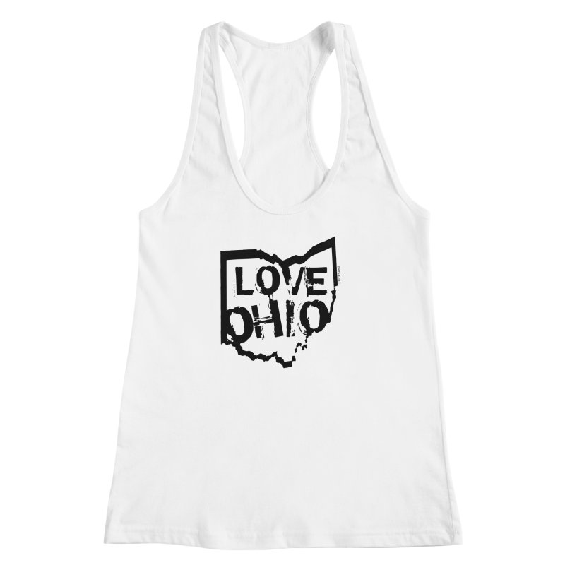 Love Ohio Women's Racerback Tank by Rick Sans' Artist Shop