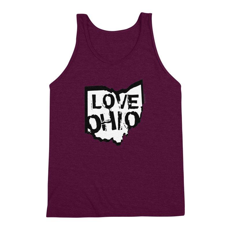 Love Ohio Men's Triblend Tank by Rick Sans' Artist Shop