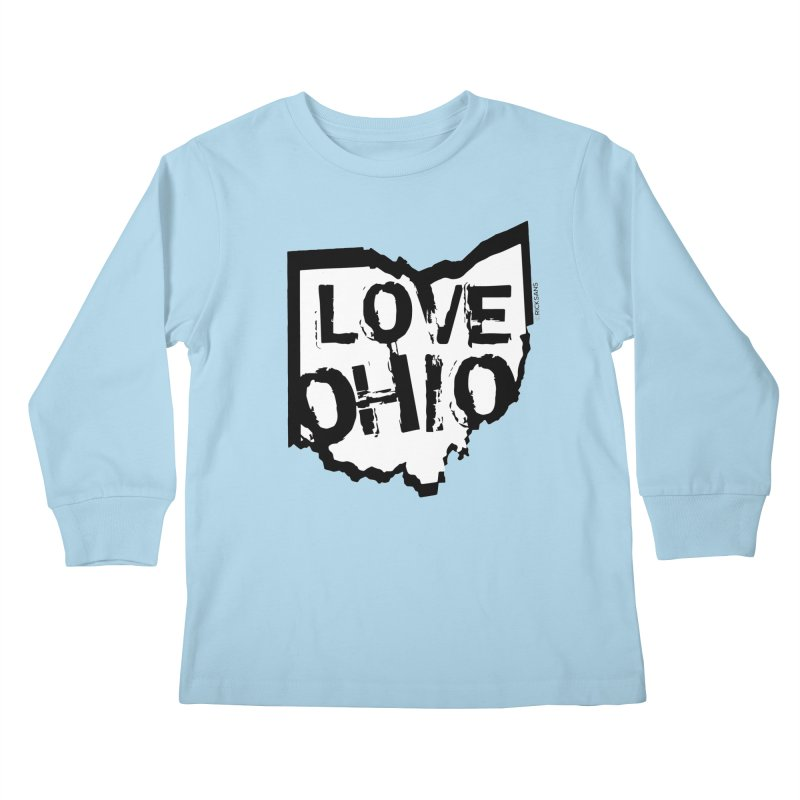 Love Ohio Kids Longsleeve T-Shirt by Rick Sans' Artist Shop