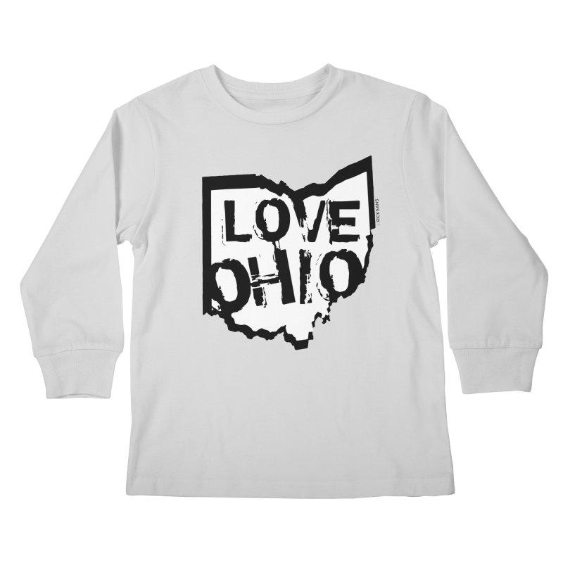 Love Ohio Kids Longsleeve T-Shirt by Ricksans's Artist Shop