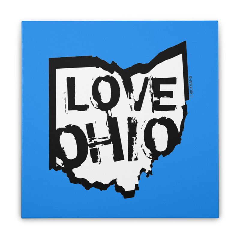 Love Ohio Home Stretched Canvas by Ricksans's Artist Shop