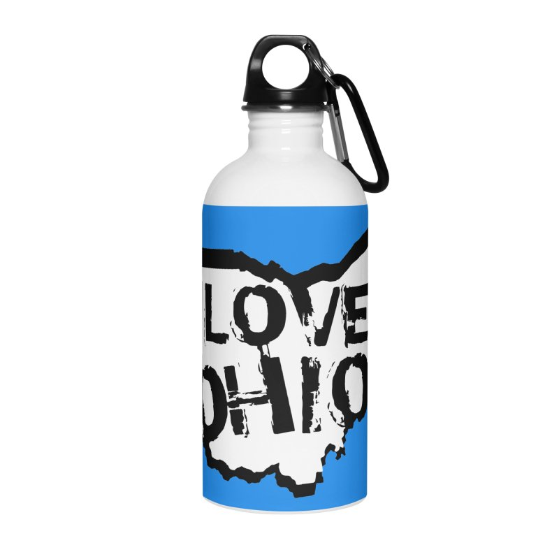 Love Ohio Accessories Water Bottle by Rick Sans' Artist Shop