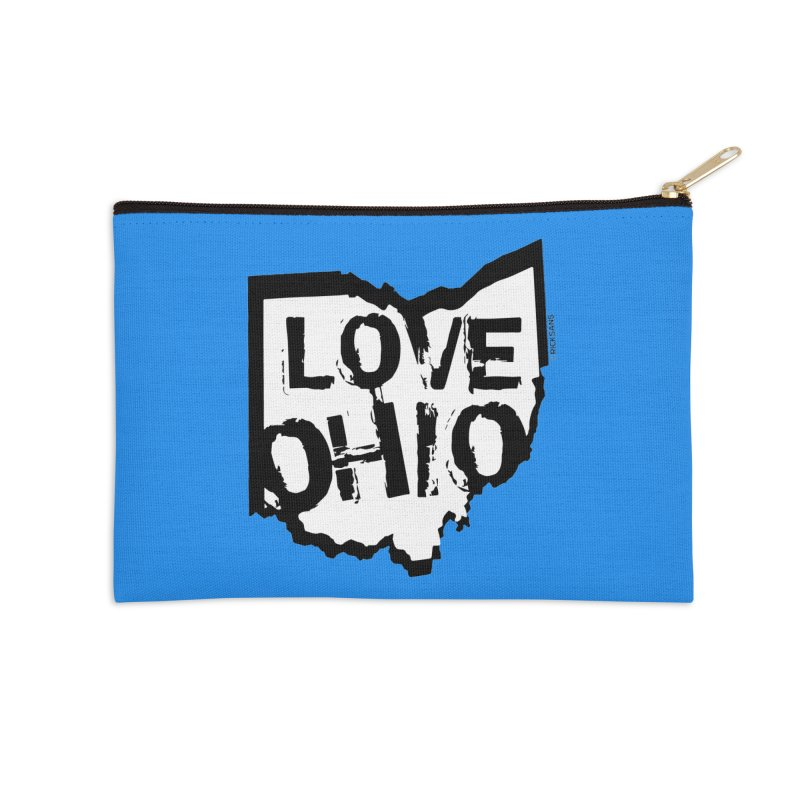 Love Ohio Accessories Zip Pouch by Rick Sans' Artist Shop