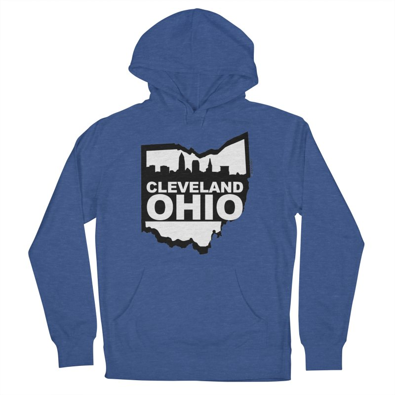 Cleveland Ohio Skyline Women's French Terry Pullover Hoody by Rick Sans' Artist Shop