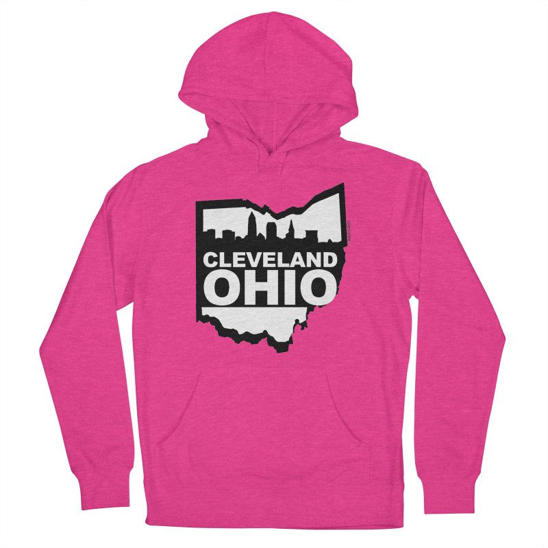 Cleveland Ohio Skyline Men's Pullover Hoody by Ricksans's Artist Shop