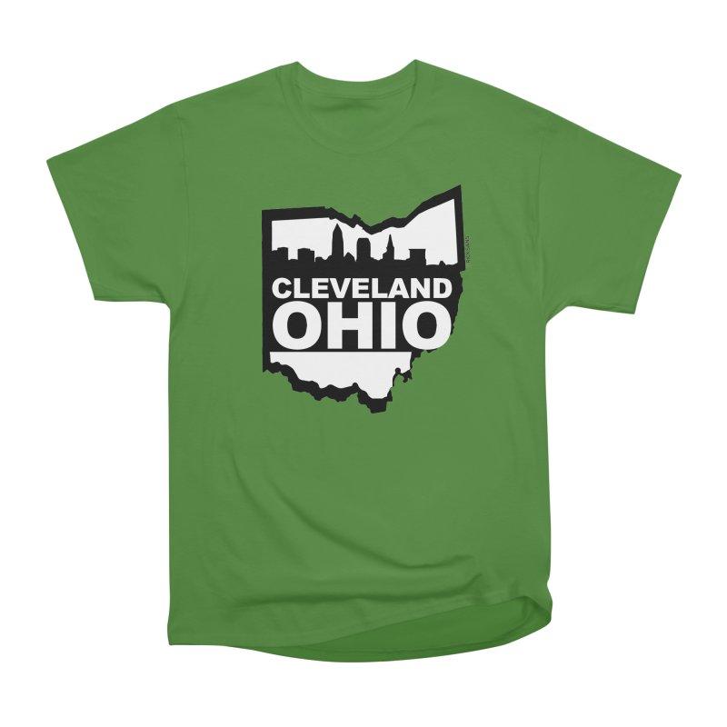 Cleveland Ohio Skyline Women's Classic Unisex T-Shirt by Ricksans's Artist Shop