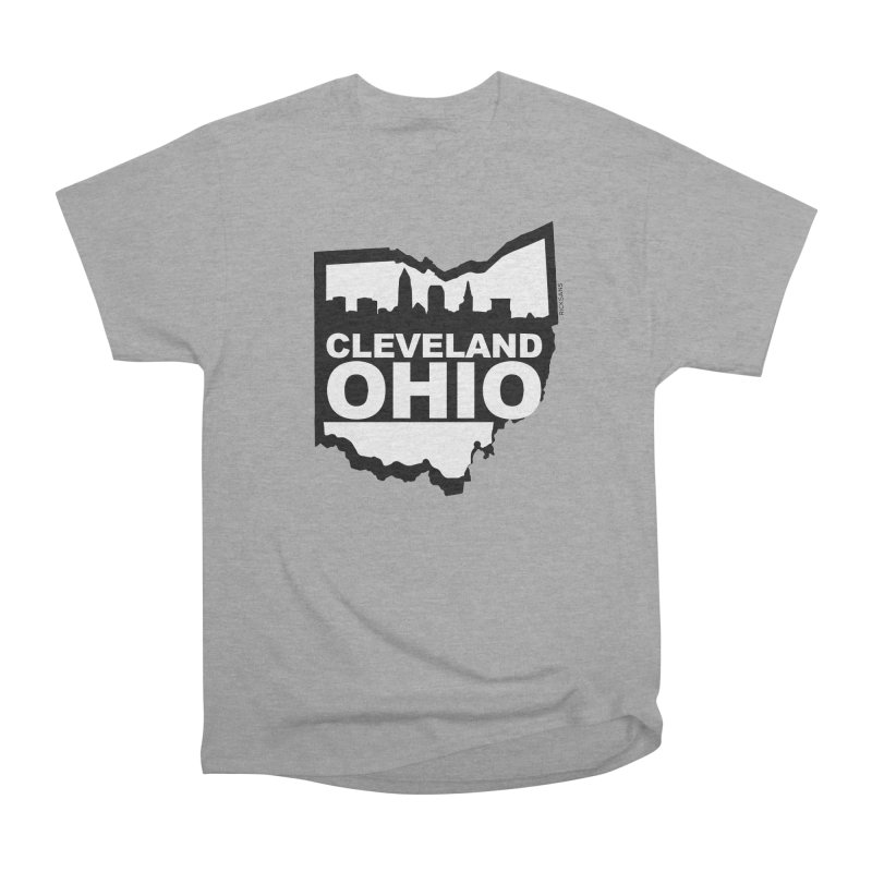 Cleveland Ohio Skyline Men's Heavyweight T-Shirt by Ricksans's Artist Shop