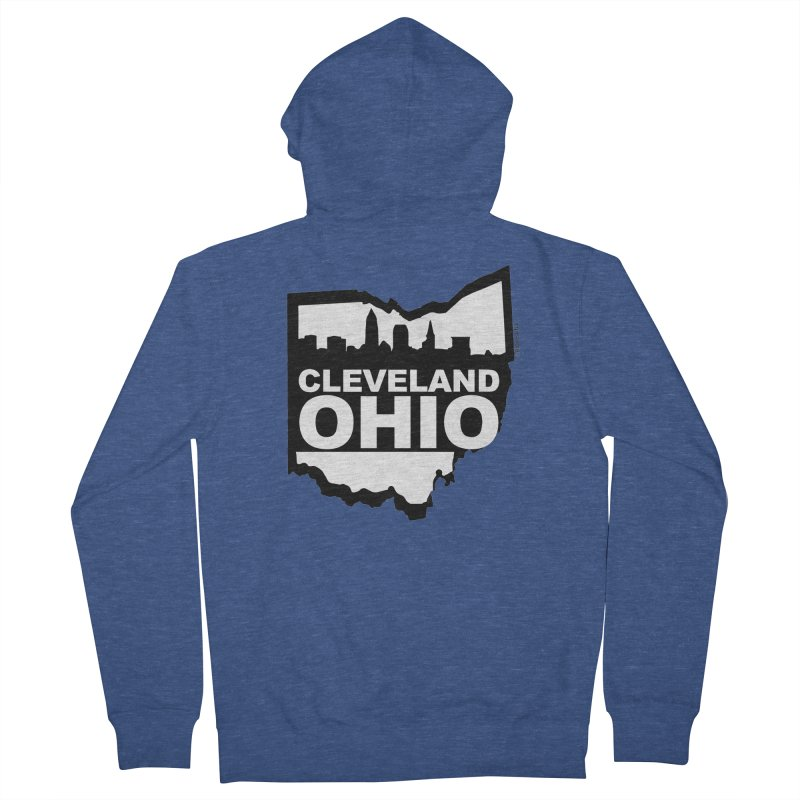 Cleveland Ohio Skyline Women's French Terry Zip-Up Hoody by Rick Sans' Artist Shop