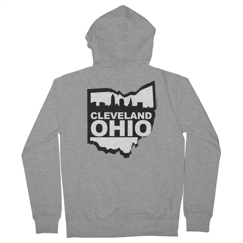 Cleveland Ohio Skyline Women's Zip-Up Hoody by Ricksans's Artist Shop