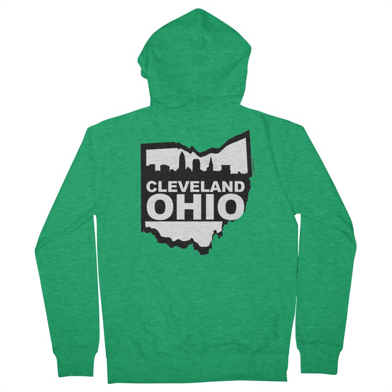Cleveland Ohio Skyline Men's Zip-Up Hoody by Ricksans's Artist Shop