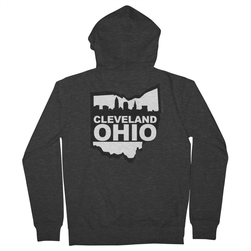 Cleveland Ohio Skyline Men's French Terry Zip-Up Hoody by Ricksans's Artist Shop