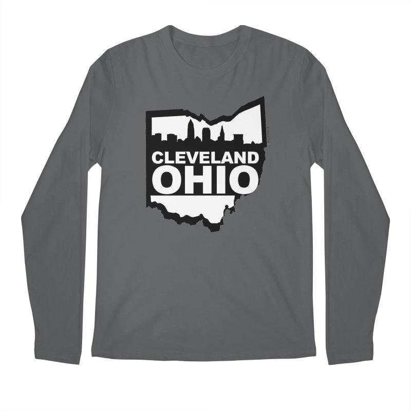 Cleveland Ohio Skyline Men's Regular Longsleeve T-Shirt by Rick Sans' Artist Shop