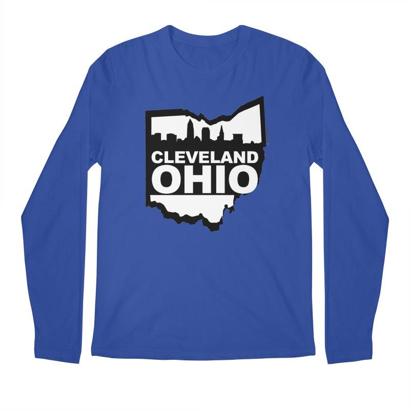 Cleveland Ohio Skyline Men's Longsleeve T-Shirt by Ricksans's Artist Shop