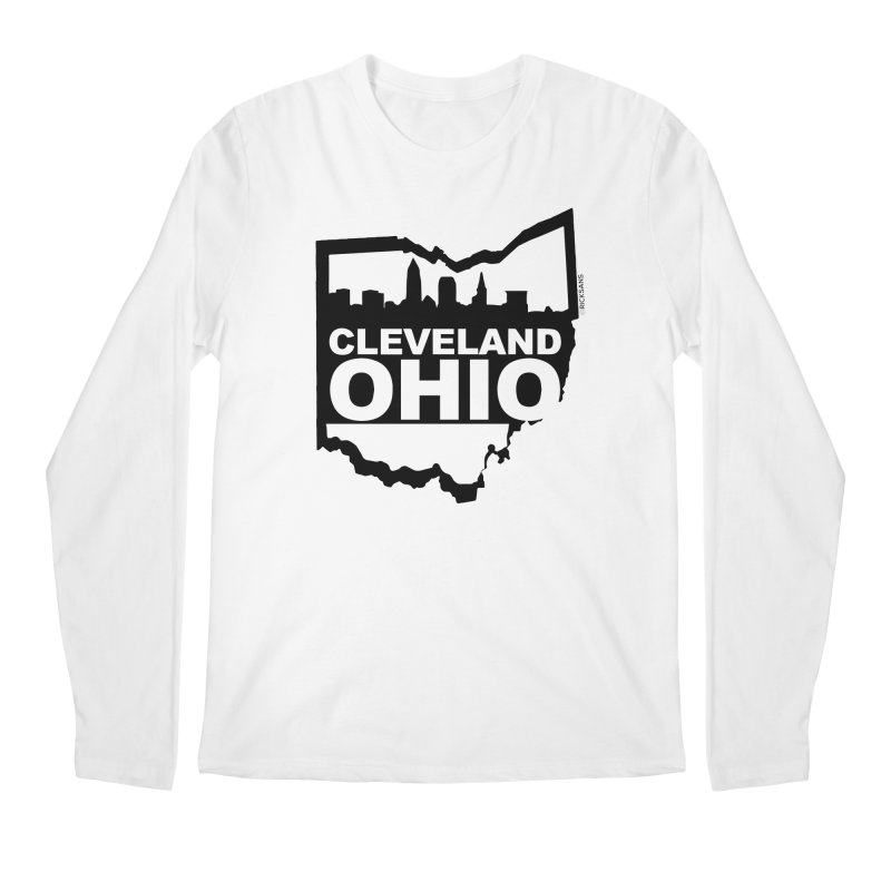 Cleveland Ohio Skyline Men's Longsleeve T-Shirt by Ricksans's Artist Shop
