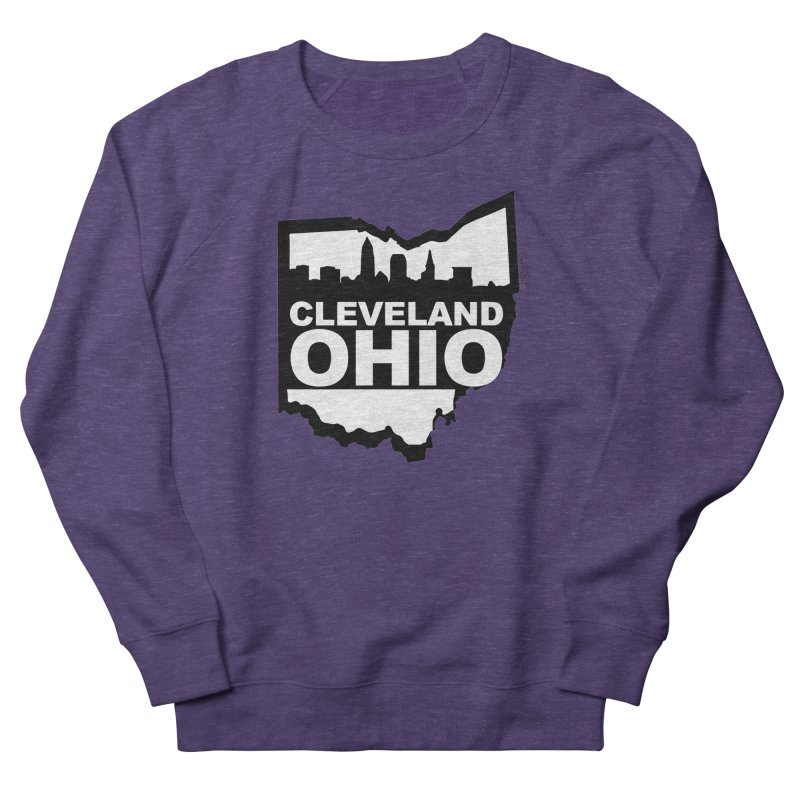 Cleveland Ohio Skyline Men's French Terry Sweatshirt by Rick Sans' Artist Shop