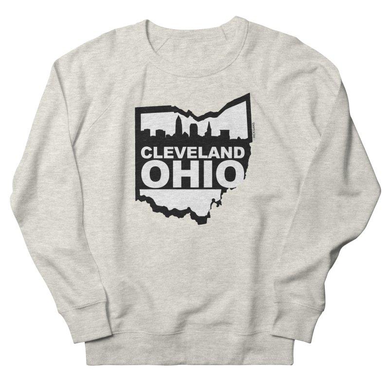 Cleveland Ohio Skyline Men's French Terry Sweatshirt by Rick Sans' Artist Shop