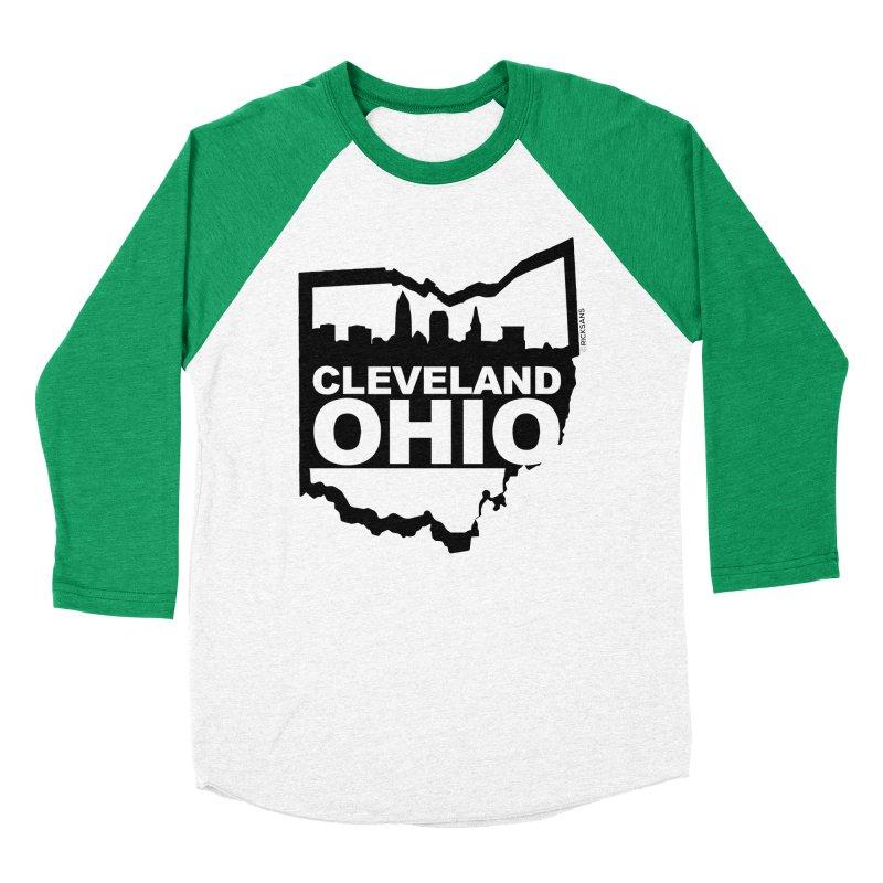 Cleveland Ohio Skyline Women's Baseball Triblend T-Shirt by Ricksans's Artist Shop
