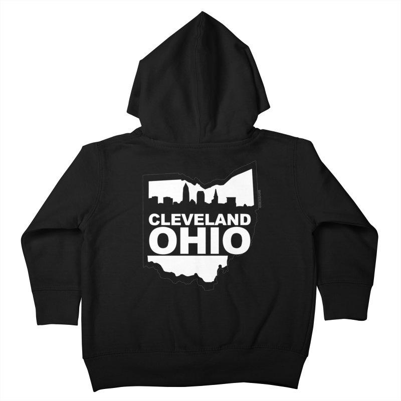 Cleveland Ohio Skyline Kids Toddler Zip-Up Hoody by Rick Sans' Artist Shop