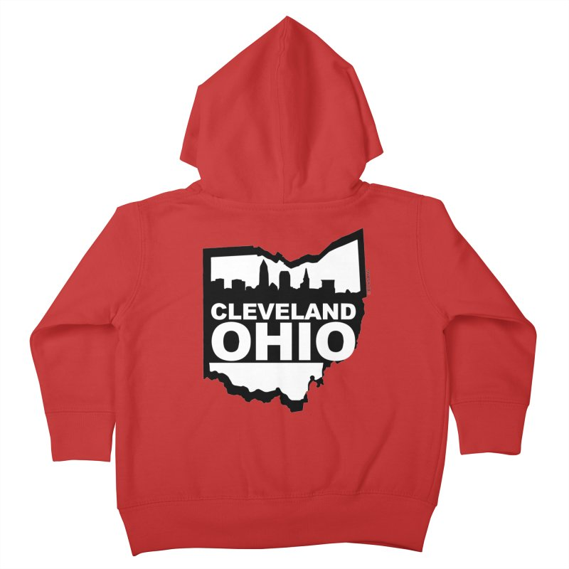 Cleveland Ohio Skyline Kids Toddler Zip-Up Hoody by Ricksans's Artist Shop