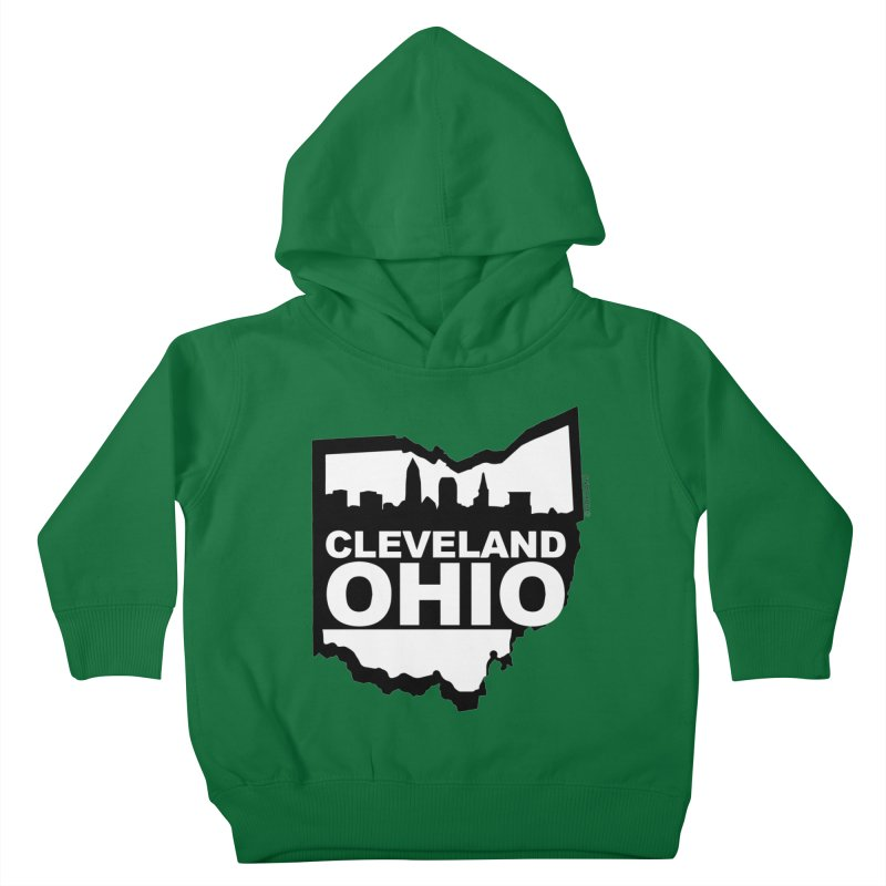 Cleveland Ohio Skyline Kids Toddler Pullover Hoody by Ricksans's Artist Shop