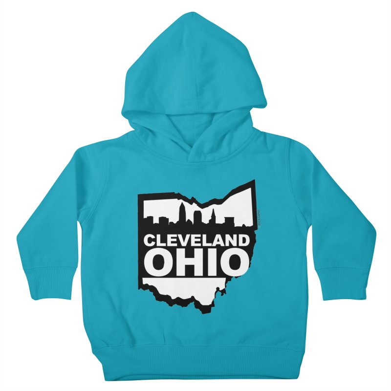 Cleveland Ohio Skyline Kids Toddler Pullover Hoody by Rick Sans' Artist Shop