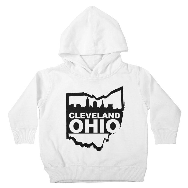 Cleveland Ohio Skyline Kids Toddler Pullover Hoody by Ricksans's Artist Shop