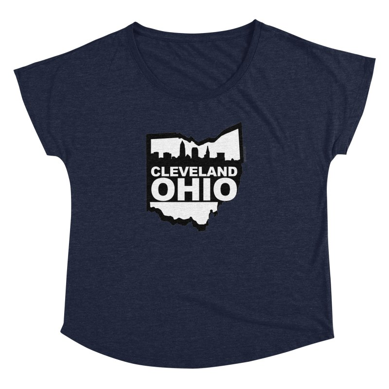 Cleveland Ohio Skyline Women's Dolman by Ricksans's Artist Shop