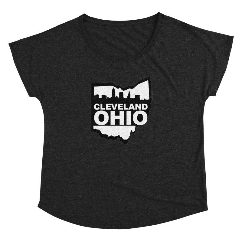 Cleveland Ohio Skyline Women's Dolman by Ricksans's Artist Shop